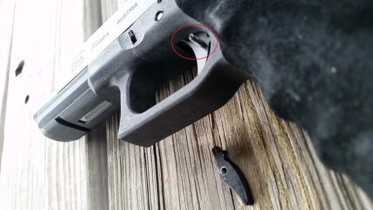 aftermarket Glock trigger failure