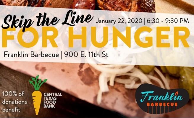 Skip the Line for Hunger Franklin Barbecue event promotion image